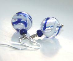 Glass Earrings, Pearl Earrings, Hand Blown Glass, Handmade Jewelry, Shops, Pearls, Pearl Studs, Tents, Handmade Jewellery