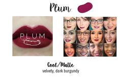 Use three layers for long-lasting results. Create your own color palette by combining shades. 1 tube of color will last you months if worn daily. Plum Lipsense, Lipsense Lip Colors, Long Lasting Lip Color, Glam Doll, Lip Swatches, Colored Diamonds, Make Up, Lipstick, Colors
