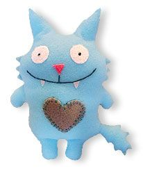 Felt monster tutorial. I saw this on Pinterest first, but where? So here's another link.
