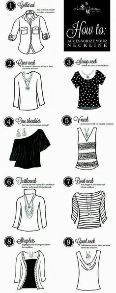 What necklace to wear with your shirt