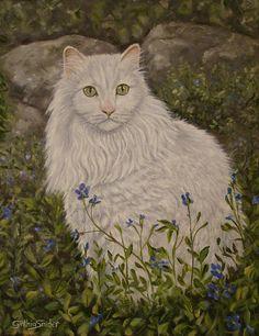 Garden Cat Painting