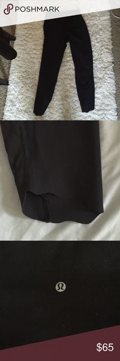 Lululemon cropped leggings High waisted crop leggings, scalloped bottoms. lululemon athletica Pants Leggings