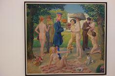 Luxe prostitute party. Emil Orlik 1870- †1932. Veletržní palác Prague