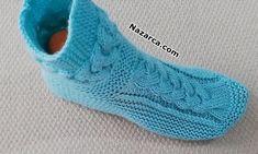 EL ÖRGÜ 3 BURGULU EV BOTU TARİFİ | Nazarca.com Elsa, Socks, Fashion, Tricot, Moda, Fashion Styles, Sock, Stockings, Fashion Illustrations