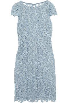 Alice + Olivia|Clover backless lace dress|NET-A-PORTER.COM