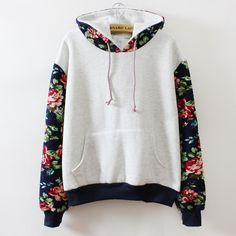 New Retro Flowers Spell Color Long Sleeve Hooded Sweatshirt Women Hoodies Fashion Casual Female Tracksuits Plus Size Wholesale