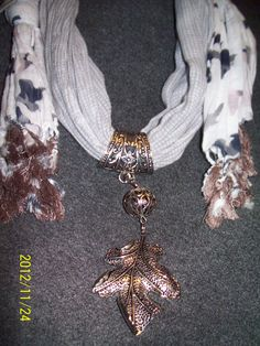 Scarf necklace. Parts and pieces from Pat Catan's
