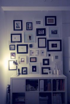 black & white frames photo wall