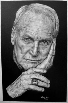 Paul Newman - pencil drawing