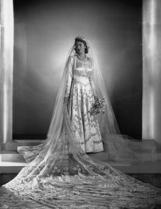 The Queen And Prince Philip Princess Elizabeth, Princess Margaret, Queen Elizabeth Ii, Royal Wedding Gowns, Royal Weddings, Vintage Weddings, Wedding Dresses, Windsor, Claire Bloom
