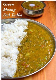 Whole Green Moong Dal Recipe Lentil Recipes, Curry Recipes, Lentil Dal Recipe, Chutney Recipes, Vegetable Recipes, Green Moong Dal Recipe, Dal Fry, Desi Food, India Food