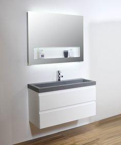 Ink Dock badmeubel 100 cm Bathroom Lighting, Vanity, Mirror, Kitchen, Furniture, Home Decor, Bathroom Ideas, Relax, Products