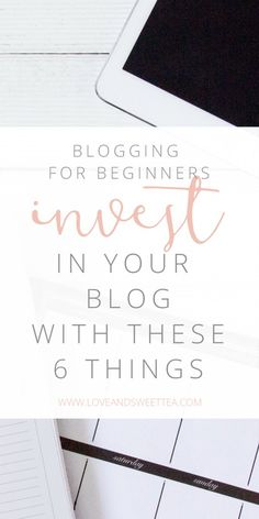 Blogging for Beginners: Invest in your blog with these 6 things  If you have recently started a blog and want to invest in blogging, where do you start? There are tons of e-courses, ebooks, products, and services out there that could quickly eat up your budget.   I made some extra money (you could, too!) and invested in my blog by buying these 6 things. Read on to find out what they are.