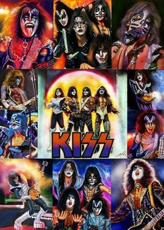 Kiss Rock Bands, Rock And Roll Bands, Pop Punk, Pochette Cd, Kiss World, Kiss Pictures, Kiss Images, Rock Band Posters, Vintage Kiss