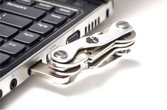 Key Genie Smart Compact Holder Tool Aluminium Organiser Pocket Folding Ring Army