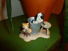 Schmid Lowell Davis 1984 Barn Cats Figurine Made in Scotland