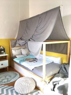 IKEA KURA Kinderbett mit DIY Betthimmel