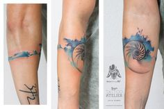 Nautilus - Watercolor Tattoo