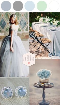 Blue, Gray & Light Green for your wedding