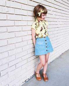 "Shop Arq Denim Mini. // ""Honey"" schoolgirl by Free Babes Handmade. Fashion game is strong."
