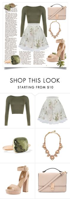 """""""Green n pink"""" by lialondon ❤ liked on Polyvore featuring WearAll, Pomellato, Kate Spade, Stuart Weitzman, Forever 21, women's clothing, women's fashion, women, female and woman"""