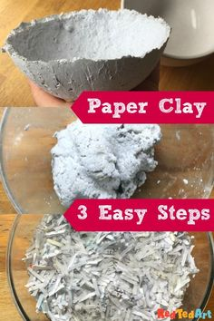 DIY Paper Clay Recipe - Red Ted Art