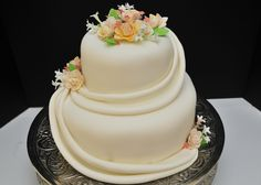 fondant swag with gum paste flowers fondant cake with swags flowers ...