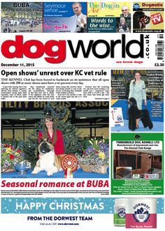 This week's Dog World newspaper #dogs #dogshows #dogshowing #news #December11 #2015