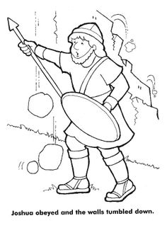 joshua jericho coloring page - Bible Coloring Pages For Kids