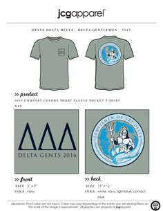 JCG Apparel : Custom Printed Apparel : Delta Delta Delta Gentlemen of Tri Delta T-Shirt #deltadeltadelta #tridelta #ddd #greek #jcgapparel
