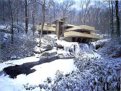 Fallingwater in snow. What a lovely place.