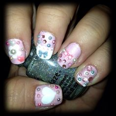 kawaii theme nails