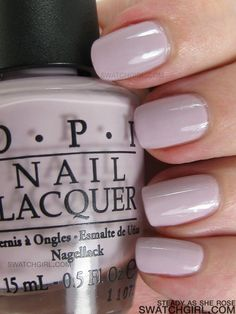 obsessed with this color on my nails right now - OPI Steady As She Rose