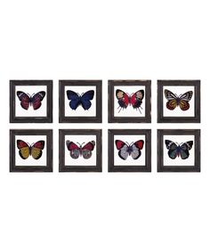 Take a look at this IMAX Butterfly Framed Glass Wall Décor - Set of Eight today!
