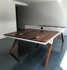 Looking for the best ping pong table? We've compared dozens of brands and models to bring you the top rated indoor and outdoor table tennis tables. Best Ping Pong Table, Ping Pong Table Tennis, Ping Pong Room, Outdoor Ping Pong Table, Diy Table, Dining Table, Cake Table, Table Tennis Conversion Top, Table Furniture
