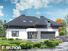 Projekt domu Dom w maciejkach (G2) - ARCHON+ Style At Home, My House, Full House, Floor Plants, Fantasy House, Dream House Exterior, Modern House Plans, Ranch Style, Home Fashion