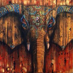 Trippy Pictures and Visuals Elephant Images, Elephant Love, Elephant Art, Elefante Hindu, Trippy Pictures, Geniale Tattoos, Hippie Art, Hippie Boho, Jolie Photo