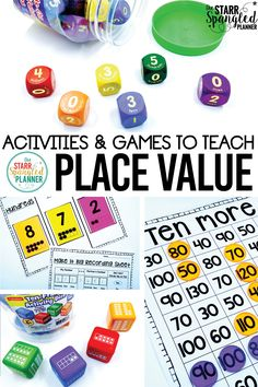 I can't wait to try ALL of these place value activities and games in my math centers! There are so many ideas for how to teach place value, I'm just going to have a hard time choosing which to try first!                                                                                                                                                     More
