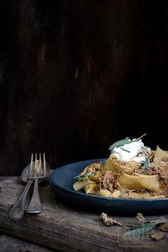 braised rabbit ragu with pappardelle & blue cheese mascarpone | table twenty eight