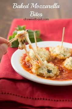 Gooey Baked Mozarella that's been marinated and oh so flavorful!! Seriously so easy and your family will be begging for more! #recipe ohsweetbasil.com_-7