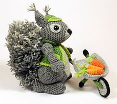 Amigurumi Crochet Pattern  Cyril the Squirrel