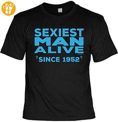 Männer-Geburtstags/Jahrgangsshirt/Spaßshirt: Sexiest Man Alive Since 1952 geniales Geschenk (*Partner-Link)