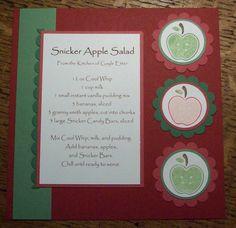 Snicker Apple Salad Recipe Card