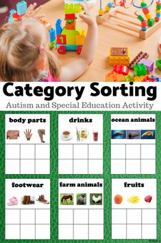 Category Sorting for Speech Therapy, Categories for Autism Love this Category Sorting Boards for Speech Therapy, Special Education and Autism! Special Education Activities, Autism Activities, Special Education Classroom, Language Activities, Teacher Resources, Activities For Kids, Teaching Ideas, Classroom Teacher, Classroom Resources