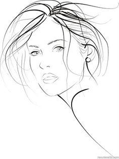 Bocetos de dibujos de mujer (Vector women sketches)