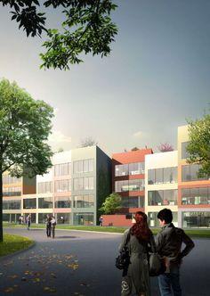 Galeria de Proposta Vencedora para Habitação Urbana Híbrida / MVRDV - 3