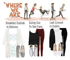 """""""Where We Are Tour Outfits"""" by fangirl-1d ❤ liked on Polyvore featuring Topshop, Monki, ONLY, ZiGiny, Converse and UGG Australia"""