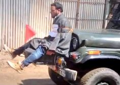 """Army on Friday said it is investigating a video in which a youth was seen tied allegedly to an army jeep as a human shield against stone pelting. """"In reference to the video showing a young man tied to an army jeep, the contents of the video are being verified and investigated,"""" a defence spokesman said here."""