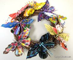 recycled-magazine-butterfly-wreath2 (scheduled via http://www.tailwindapp.com?utm_source=pinterest&utm_medium=twpin&utm_content=post1386063&utm_campaign=scheduler_attribution)