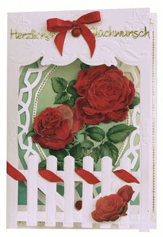 Bastelset: Zaunkarten Rosen - Hobby, Crafts and Paperdesign